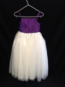purple top bridesmaid dress