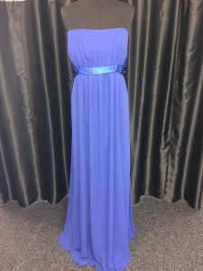 Purple ribbon waist dress