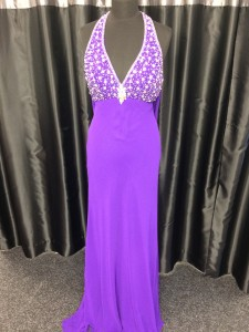 Purple jewelled bodice dress