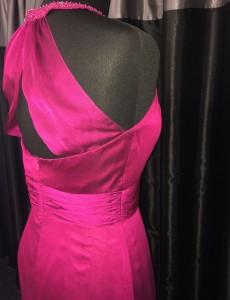 Pink sash back dress