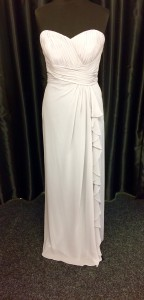 White waisted tie ruched