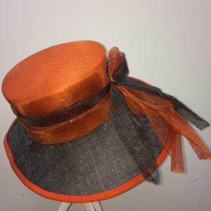 Orange wedding hat