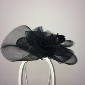 Black lace fascinator