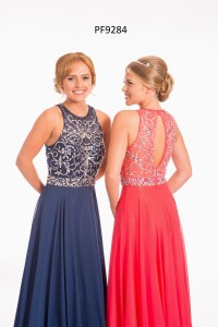 PF 9284 Navy and Strawberry 1