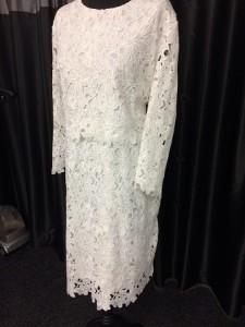 Floral cut long sleeved dress