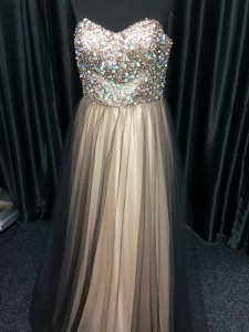gold jewelled bodice gown