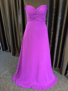 prom evening bridesmaid purple float dress