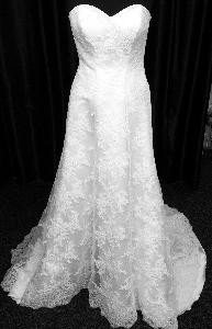 Wedding dress long train
