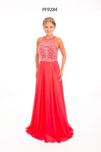 Strawberry sleeveless Prom Dress