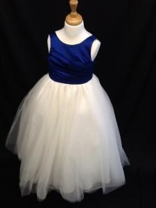 blue top bridesmaid dress