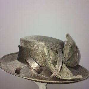 Silver wedding hat