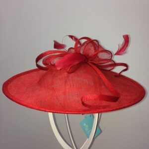 Red loops wedding hat