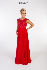 Deep red lacey Prom Dress