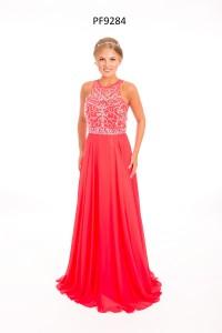 Strawberry sleeveless Prom Dress