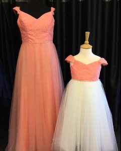 Bridemaids outfits at Pams Gowns Cornwall