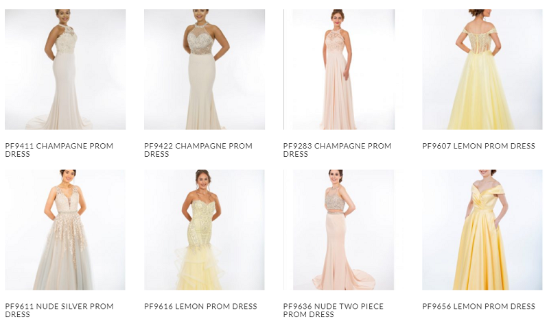 Prom frocks 2020 champagne