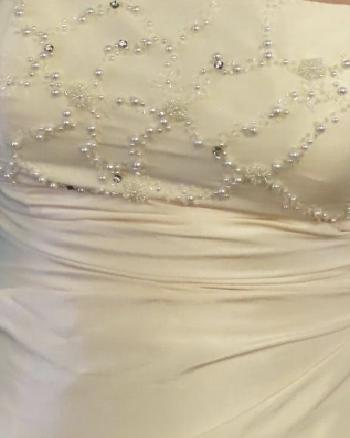 Carducci beaded strapless dress