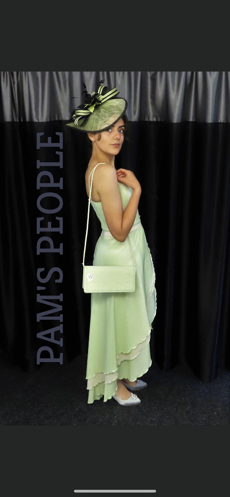 Dynasty pale green cocktail dress