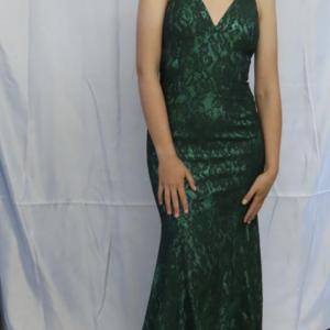 Gino Cerruit Hunter Green dress